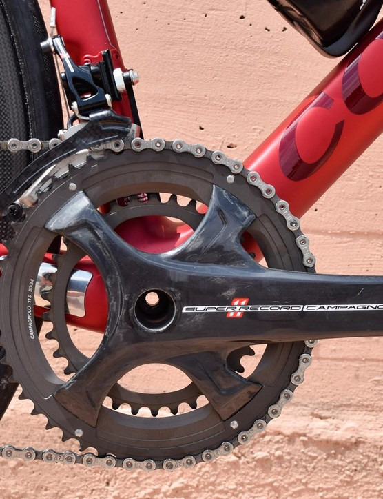 We've grown used to the appearance of Campagnolo's four-arm cranks