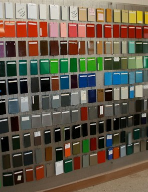 Where to start with a colour choice? There's a whole wall of them.