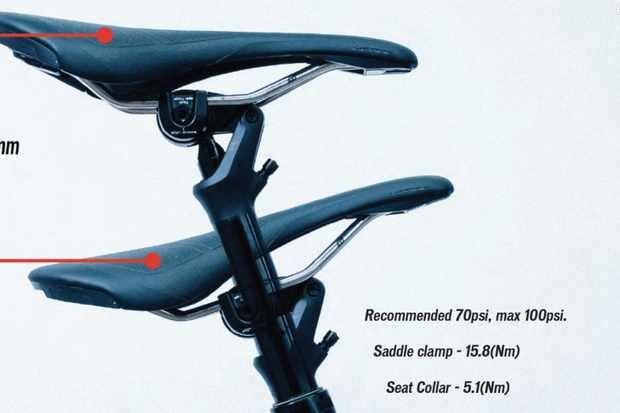 The new Command Post dropper has WU — an automatic uptilt of the saddle when it drops to the low position