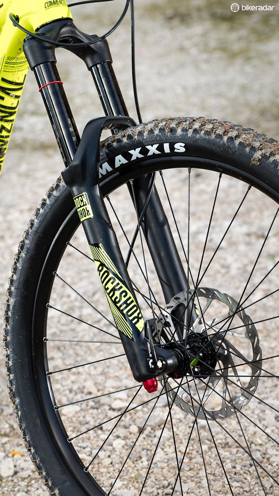 RockShox' Yari fork shares many features with the hard-charging Lyrik