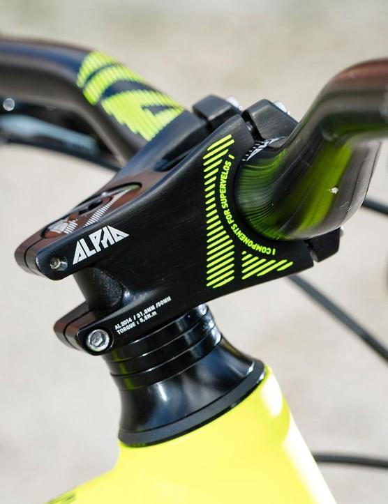 A 50mm Ride Alpha stem comes stock