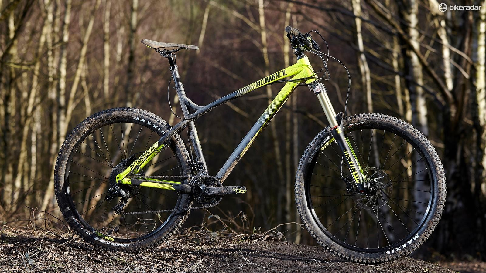 Commencal's Meta HT AM Essential makes a bold statement with its 160mm fork and hardtail rear end