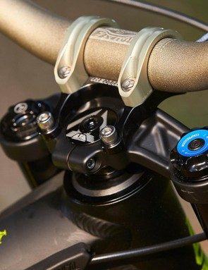 The RockShox Boxxer World Cup fork gets a Charger sealed damper, plus a direct mount Renthal bar and stem