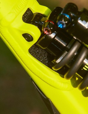 There are some neat pro-touches such as the foam that prevents dirt entering the downtube where it's recessed for the shock