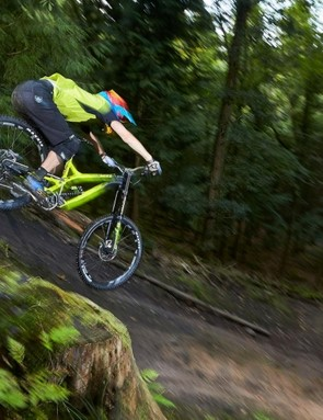 It might be short on reach, but the bike has superb big-bump capabilities