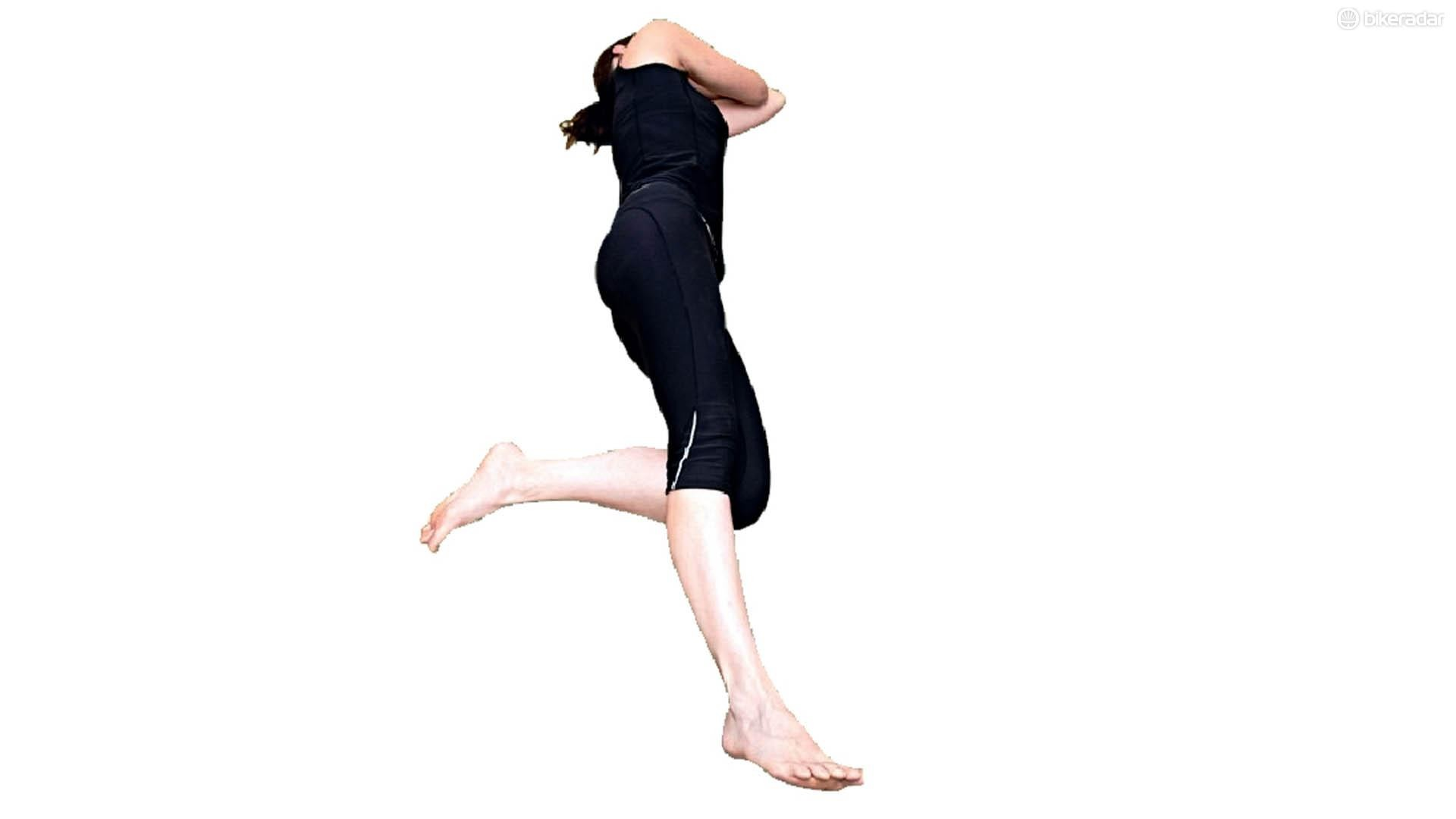 Lying on your side with both legs straight out in front of you, gradually bend the lower leg back until the knee forms a right angle. This will help stretch out the knee joint