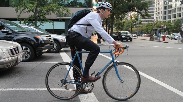 Taking proper precautions can make riding with traffic less intimidating