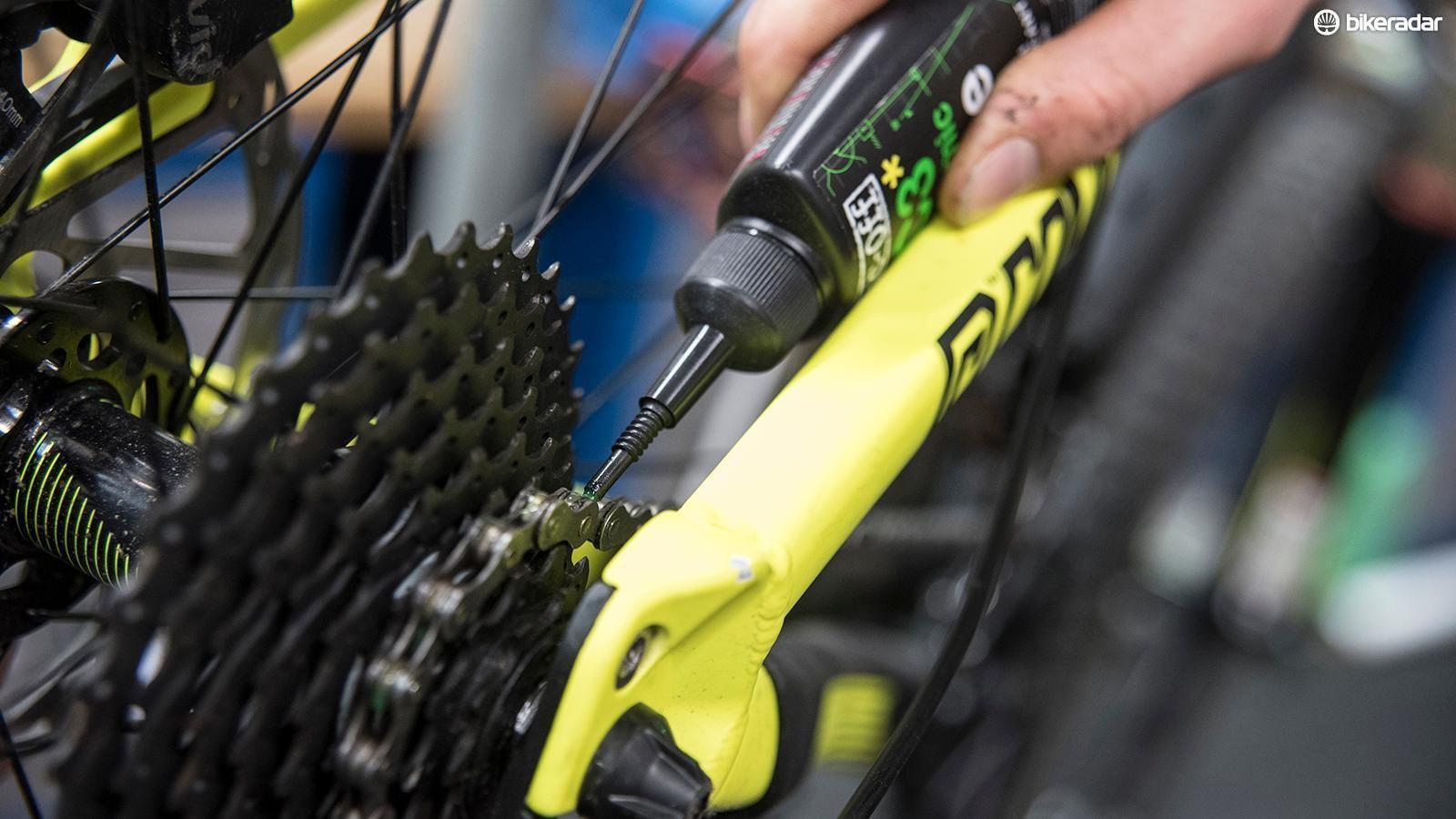 Lubricate your bike's chain