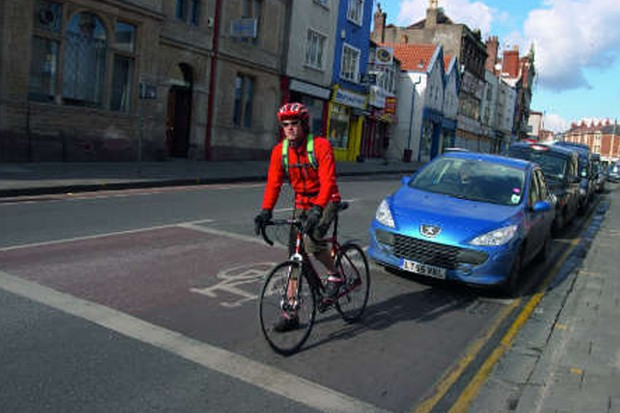 Research suggests that roads would be safer if bikers were a more common sight