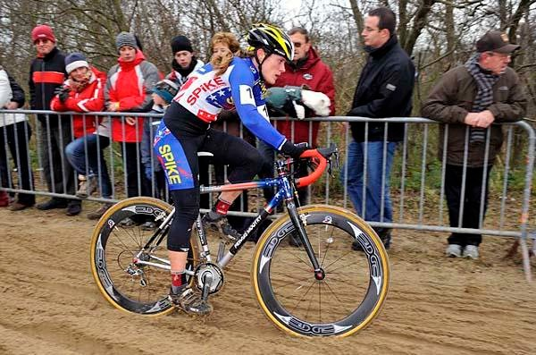 American Katie Compton won the World Cup cyclo-cross race in Koksijde, Belgium November 29.