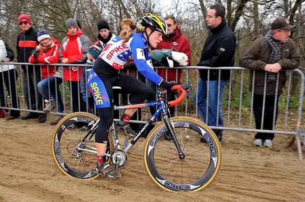 American Katie Compton won the World Cup cyclo-cross race in Koksijde, Belgium November 29.