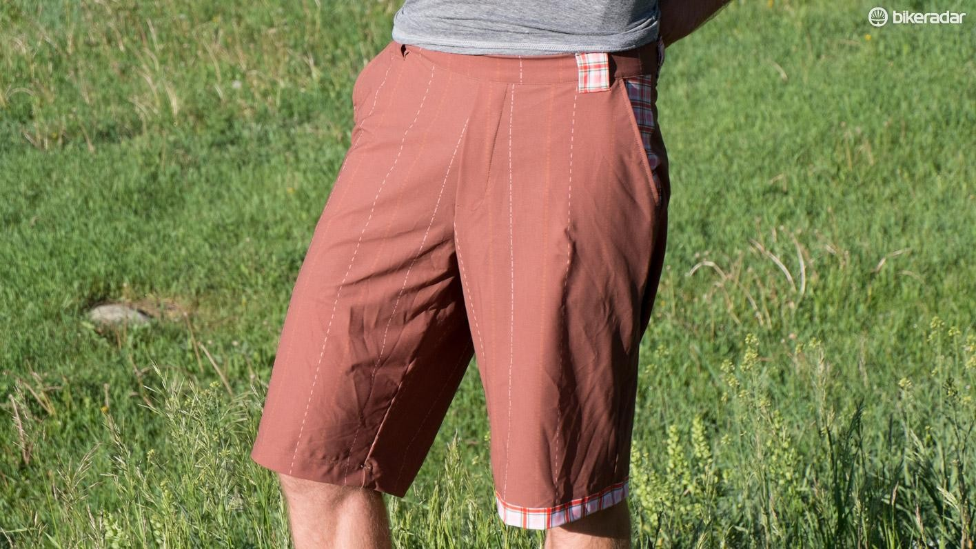 Conation Collective's Pinstriped Baggy shorts are a refreshing take on mountain bike baggies
