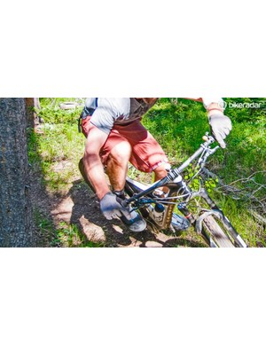 Conation's shorts easily adapt to every mountain bike move