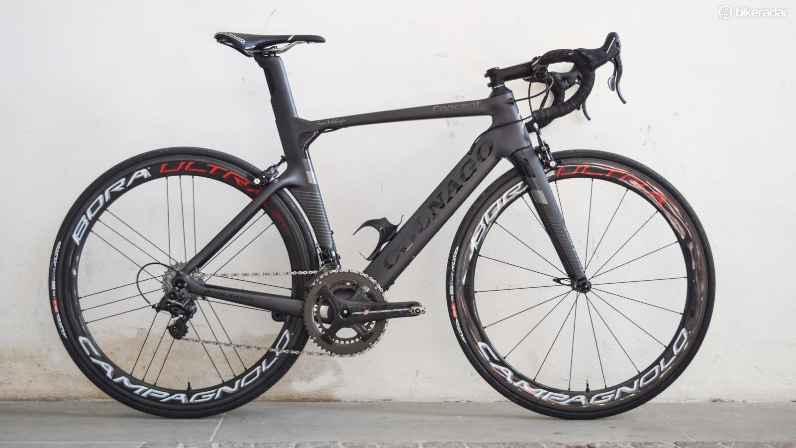 The new Colnago Concept aero bike