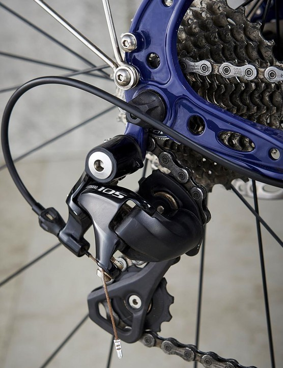 Shimano's 105 gearing was as reliable as ever