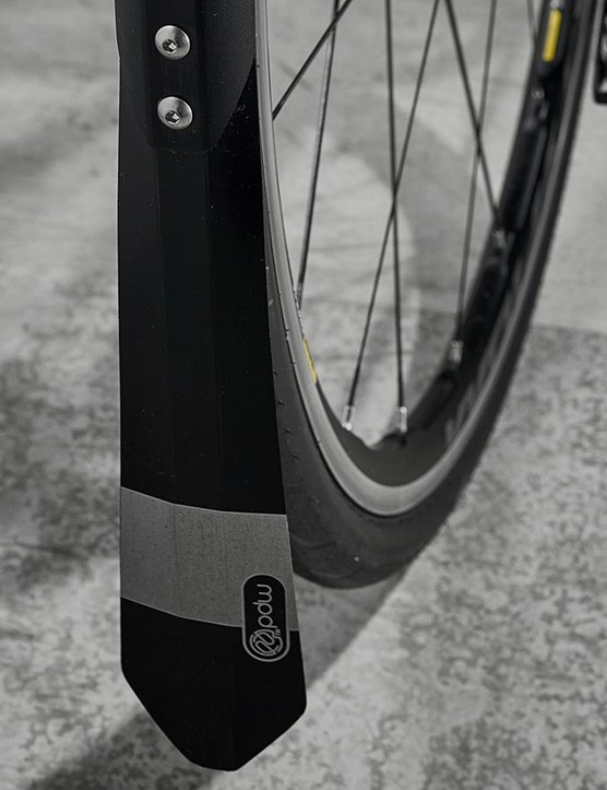 Mudguard flaps extend almost to the ground for maximum weather protection