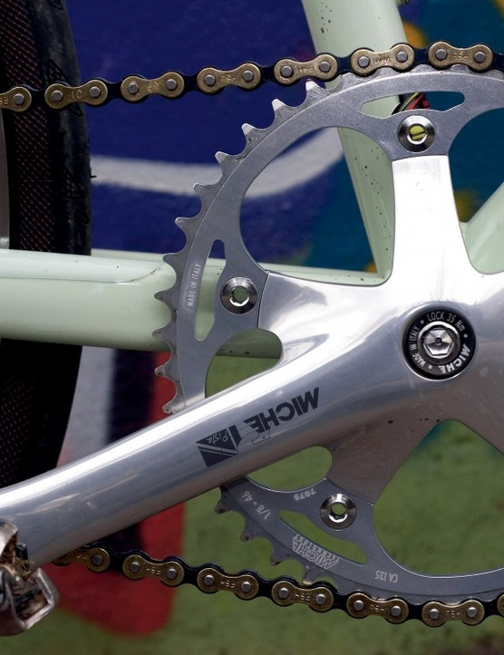 The 165mm Miche Pista cranks are a little short.
