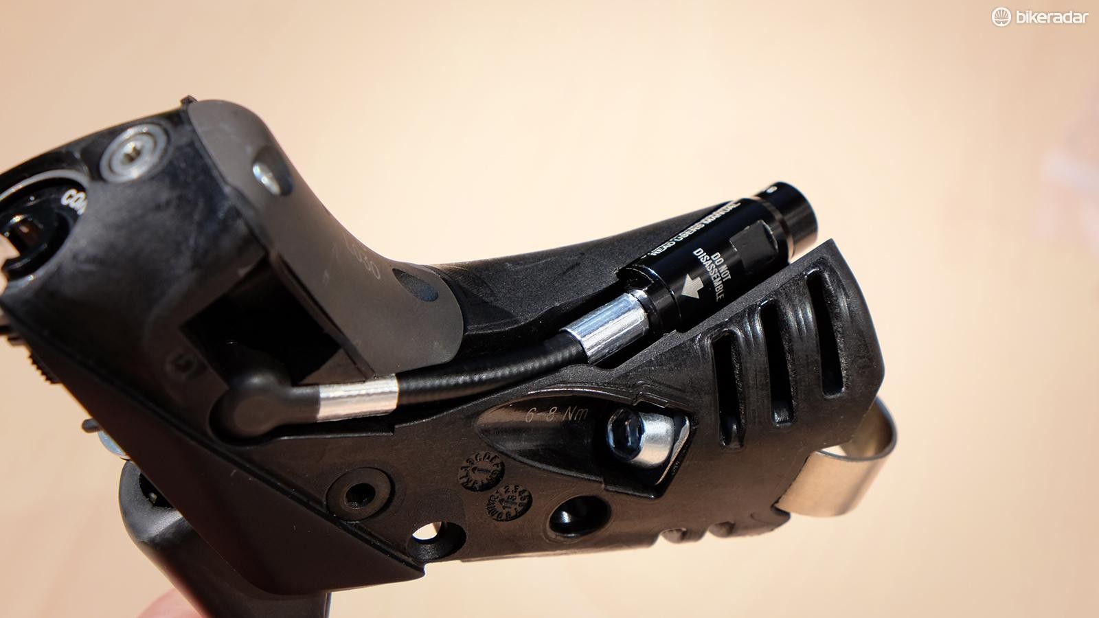 The integrated Stealth-a-Majig connector keeps air out of the master cylinder when cutting hydraulic lines