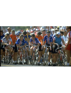 Connie Carpenter-Phinney on the start line of the 1984 Olympic Games