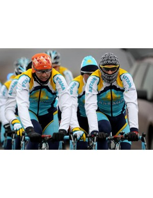 Astana training last week - but not for the Tour