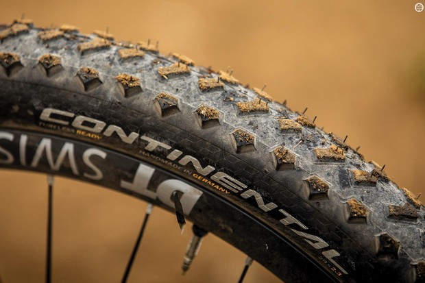 The Mountain King has a retro-looking lug arrangement tread pattern