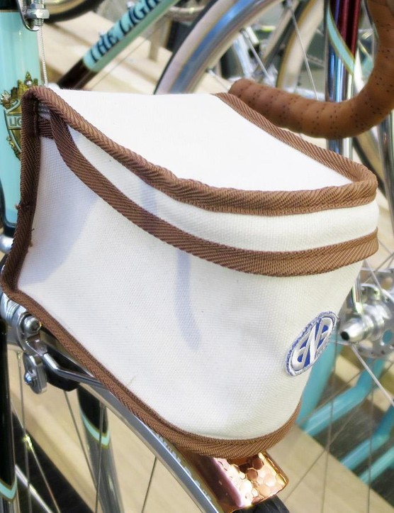 The ENE mini porter rack is topped with a suitably vintage looking ENE bag