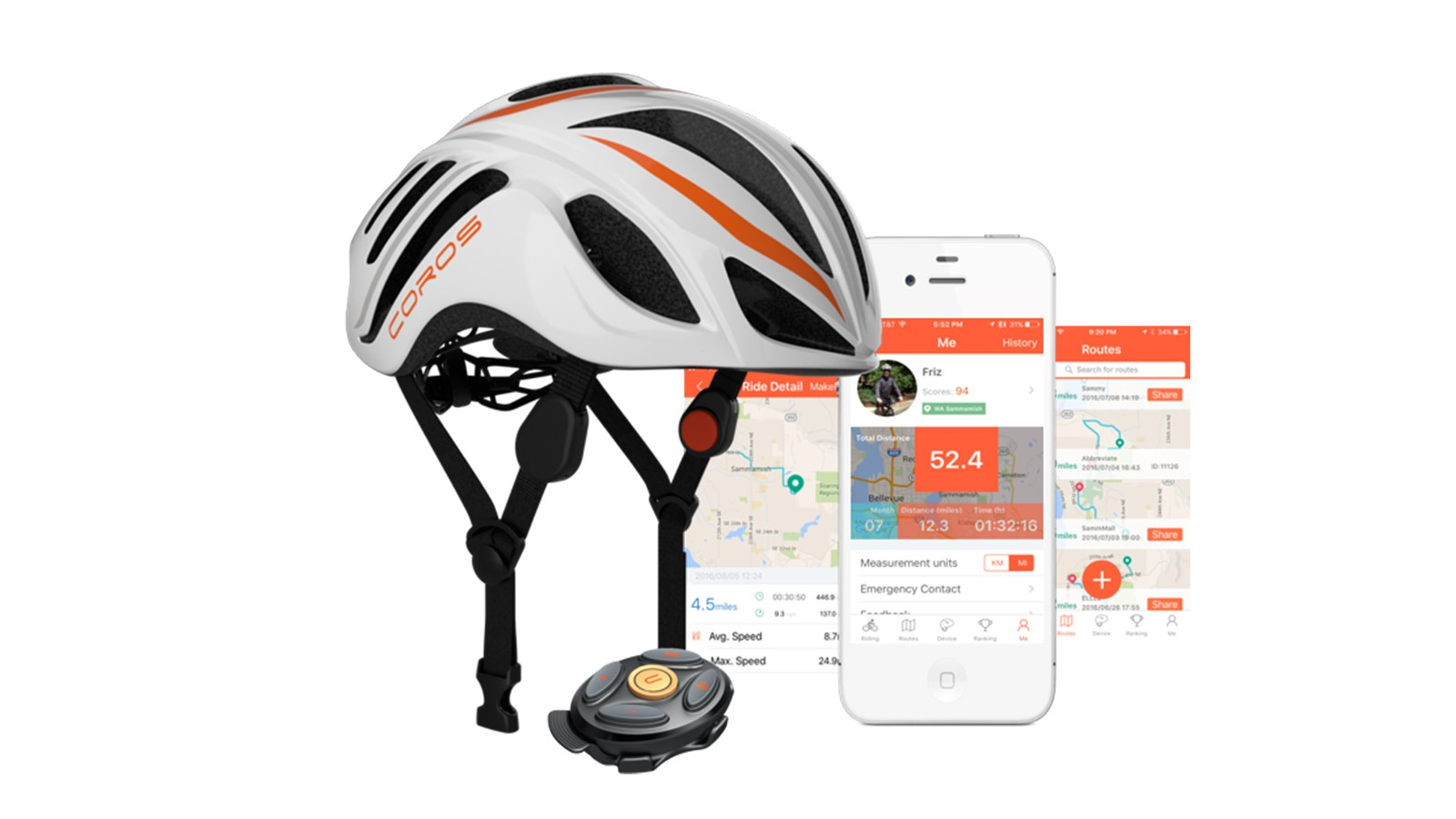 The Coros LINX helmet with bone-conduction audio and accompanying app