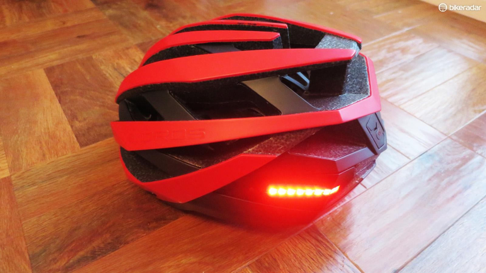 You can control the inbuilt rear lights on the Omni using either the phone app or a bar-mounted remote control