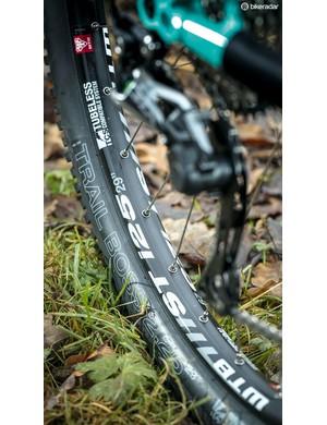 WTB i25 rims on Shimano SLX hubs with a WTB Trail Boss Fast tyre
