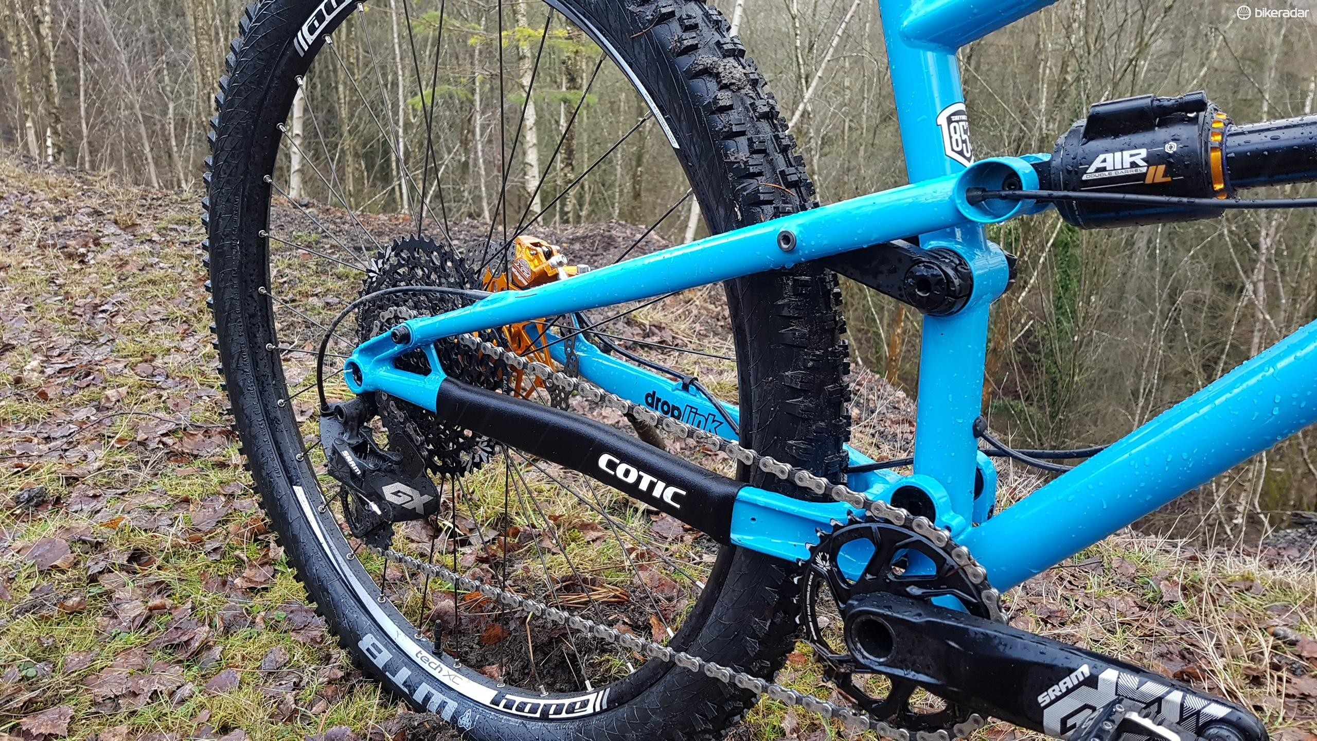 Cotic's long-running DropLink suspension is a four-bar system