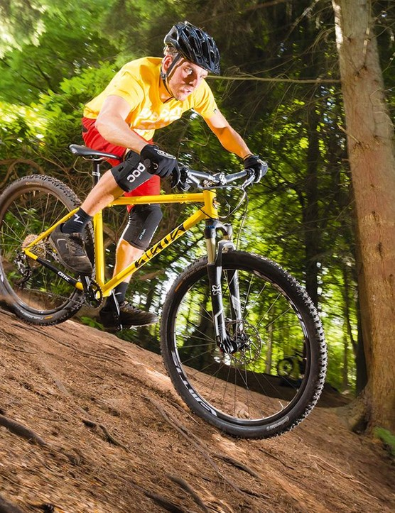 The X-Fusion Trace RL2 air fork makes light work of bone shaking features
