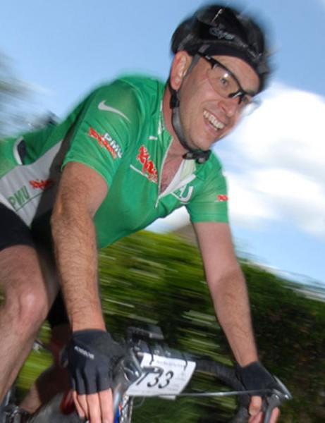 Paul Warren is still smiling despite the tricky gusting wind