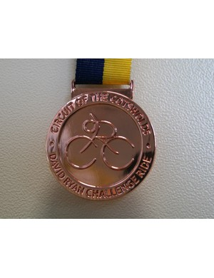 Finishers were rewarded with a hard-earned medal