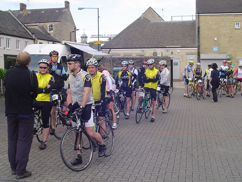 Preparing for the off in Witney
