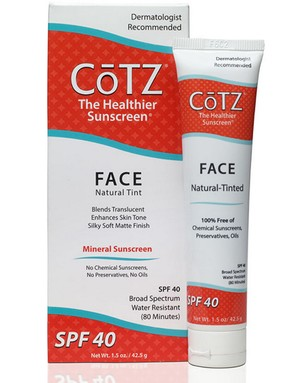 Cotz sunscreen is favoured by Todd Gogulski