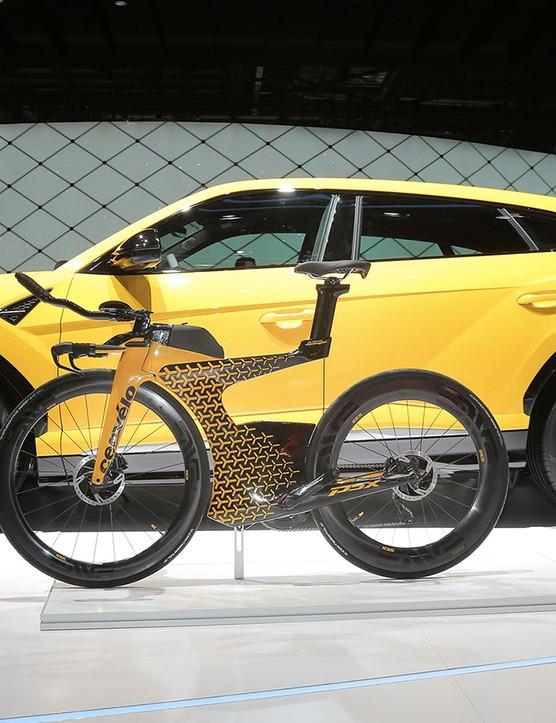 Lamborghini's new Urus SUV alongside the limited-edition P5x