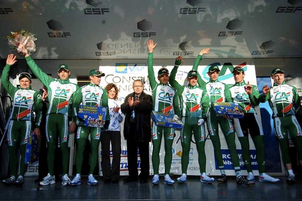 Credit Agricole ends its 1-year sponsorship after 2008.