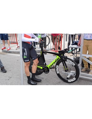 Norwegian national time trial champion Edvald Boasson Hagen raced the prologue on a Cervelo P3