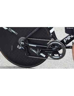 Most of Team Sky have raced with Stages power meters so far this season but several of the riders used Shimano power meters for the Dauphine prologue