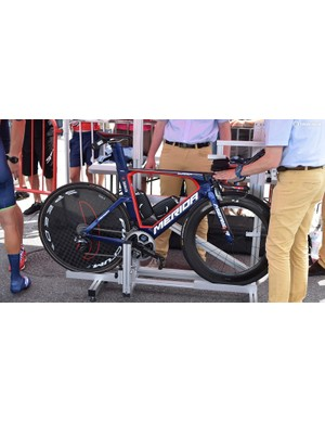 Vincenzo Nibali's Merida Warp time trial bike for the Criterium du Dauphine prologue