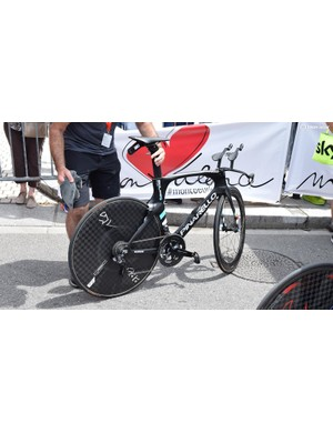 Geraint Thomas' Pinarello Bolide for the Criterium du Dauphine prologue