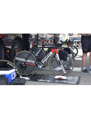 A Team Sunweb Giant Trinity as used by Tom Dumoulin to world championships victory in Bergen last year
