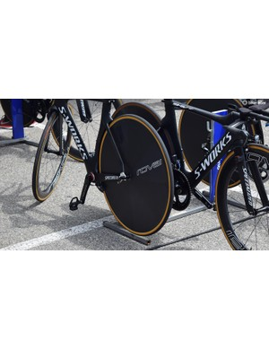 Quick-Step Floors were racing with the new Roval 321 Disc rear wheel