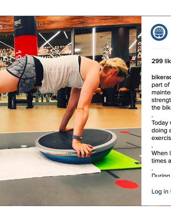 Core strength and balance training is an important part of race prep