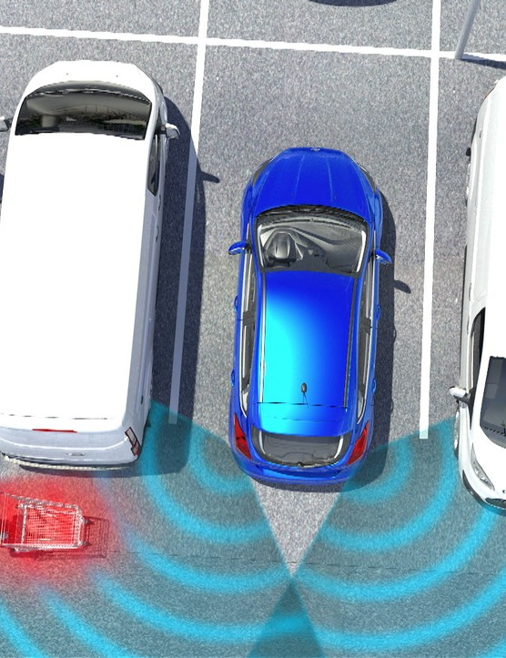 Ford's Cross Traffic Alert system alerts a driver prior to or during a manoeuvre