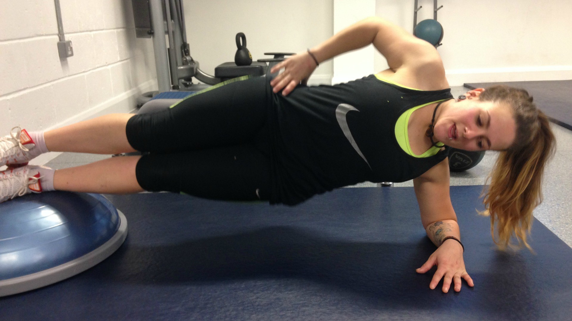 Side plank is a great exercise for upping your core strength
