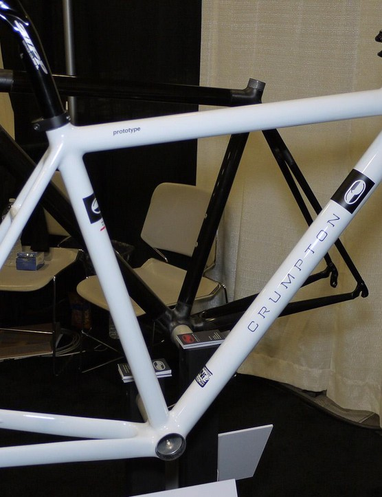 Nick Crumpton continues to innovate. The Austin builder makes his own carbon tubing in house. In Sacramento he showed off a disc brake prototype