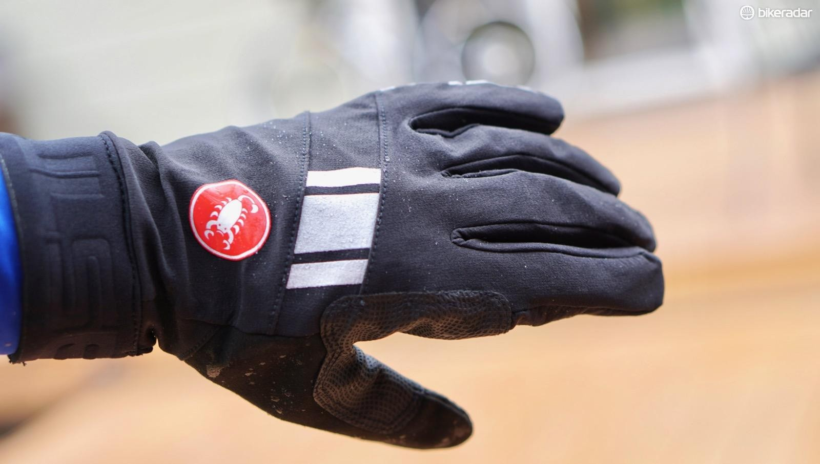 The Castelli Tempesta Gloves bead up at first, but then the outer eventually gets soaked