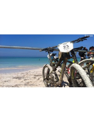 Five days of fast, brutal racing ended on this beautiful white sand beach