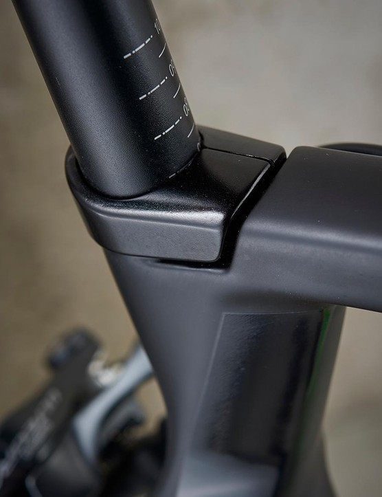The seat clamp is neat but I'm not sure about the look of the seat-tube cluster